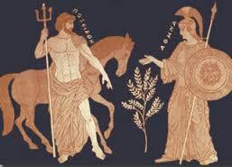 Atenea regala el olivo al pueblo de Atenas